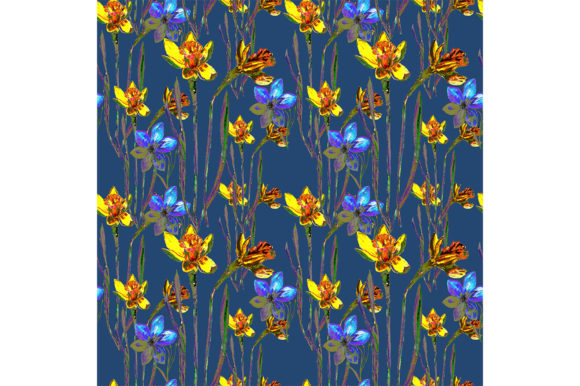 Print on Demand: Seamless Pattern Summer Flowers Graphic Patterns By kakva