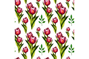 Print on Demand: Seamless Pattern with Tulips. Graphic Patterns By kakva