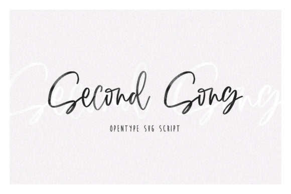 Print on Demand: Second Song Script & Handwritten Font By Dmitrii Chirkov - Image 1