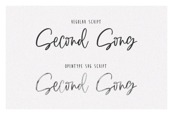 Print on Demand: Second Song Script & Handwritten Font By Dmitrii Chirkov - Image 8