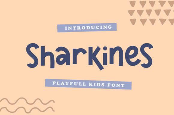 Print on Demand: Sharkines Display Font By Typefar