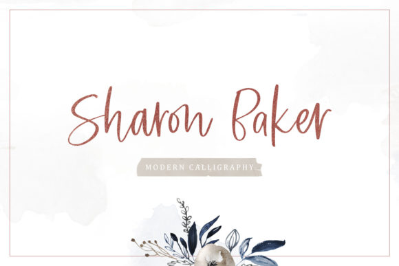 Print on Demand: Sharon Baker Script & Handwritten Font By letterhend