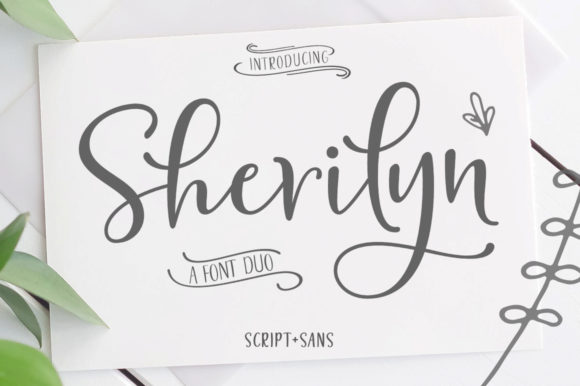 Print on Demand: Sherilyn Duo Script & Handwritten Font By Zane Studio