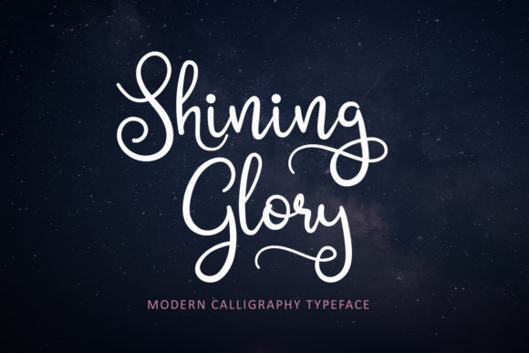 Print on Demand: Shining Glory Script & Handwritten Font By josgandos