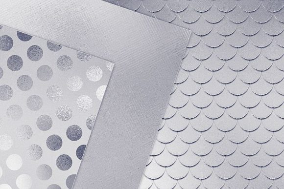Print on Demand: Silver Textures Graphic Patterns By Creative Paper - Image 3