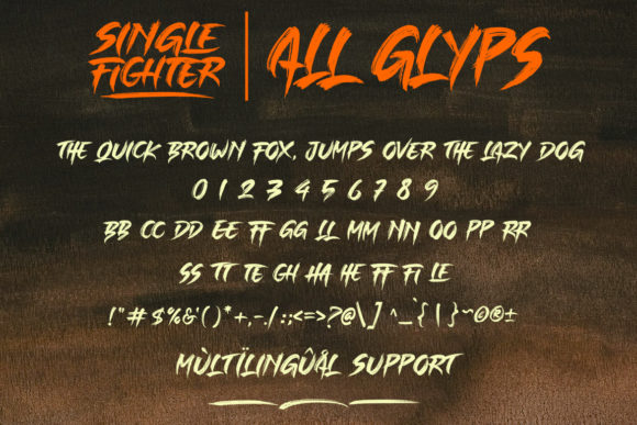 Single Fighter Font By Subectype Image 14