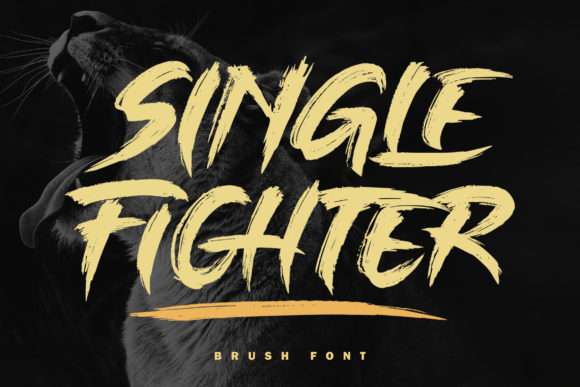 Print on Demand: Single Fighter Script & Handwritten Font By Subectype