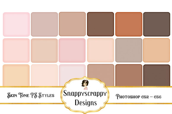 Skin Tone PS Styles Graphic Layer Styles By Snappyscrappy