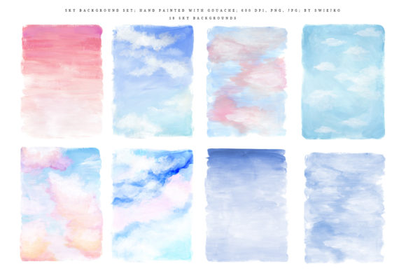 Print on Demand: Sky Background Set Graphic Illustrations By swiejko - Image 2