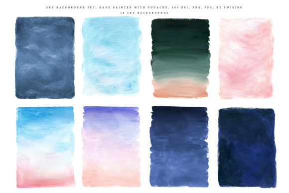 Print on Demand: Sky Background Set Graphic Illustrations By swiejko - Image 3