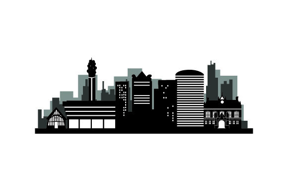 Download Free Skyline Silhouette Of Birmingham Svg Cut File By Creative SVG Cut Files