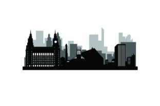 Skyline SIlhouette of Liverpool UK Designs Craft Cut File By Creative Fabrica Crafts