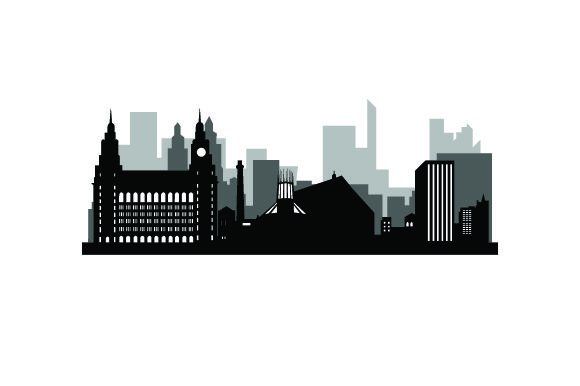 Download Free Skyline Silhouette Of Liverpool Svg Cut File By Creative Fabrica for Cricut Explore, Silhouette and other cutting machines.