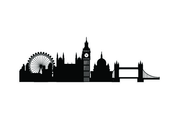Download Free Skyline Silhouette Of London Svg Cut File By Creative Fabrica for Cricut Explore, Silhouette and other cutting machines.