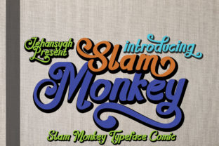 Slam Monkey Font By jehansyah251