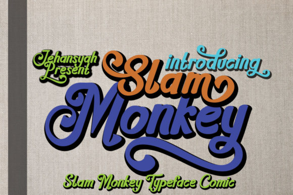 Print on Demand: Slam Monkey Script & Handwritten Font By jehansyah251