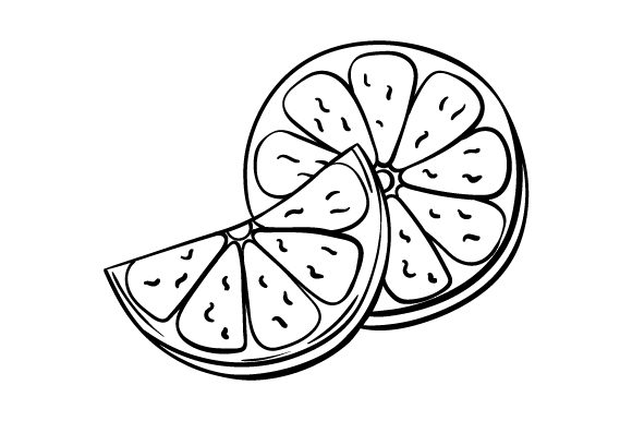 Download Free Sliced Lemon Line Art Svg Cut File By Creative Fabrica Crafts for Cricut Explore, Silhouette and other cutting machines.