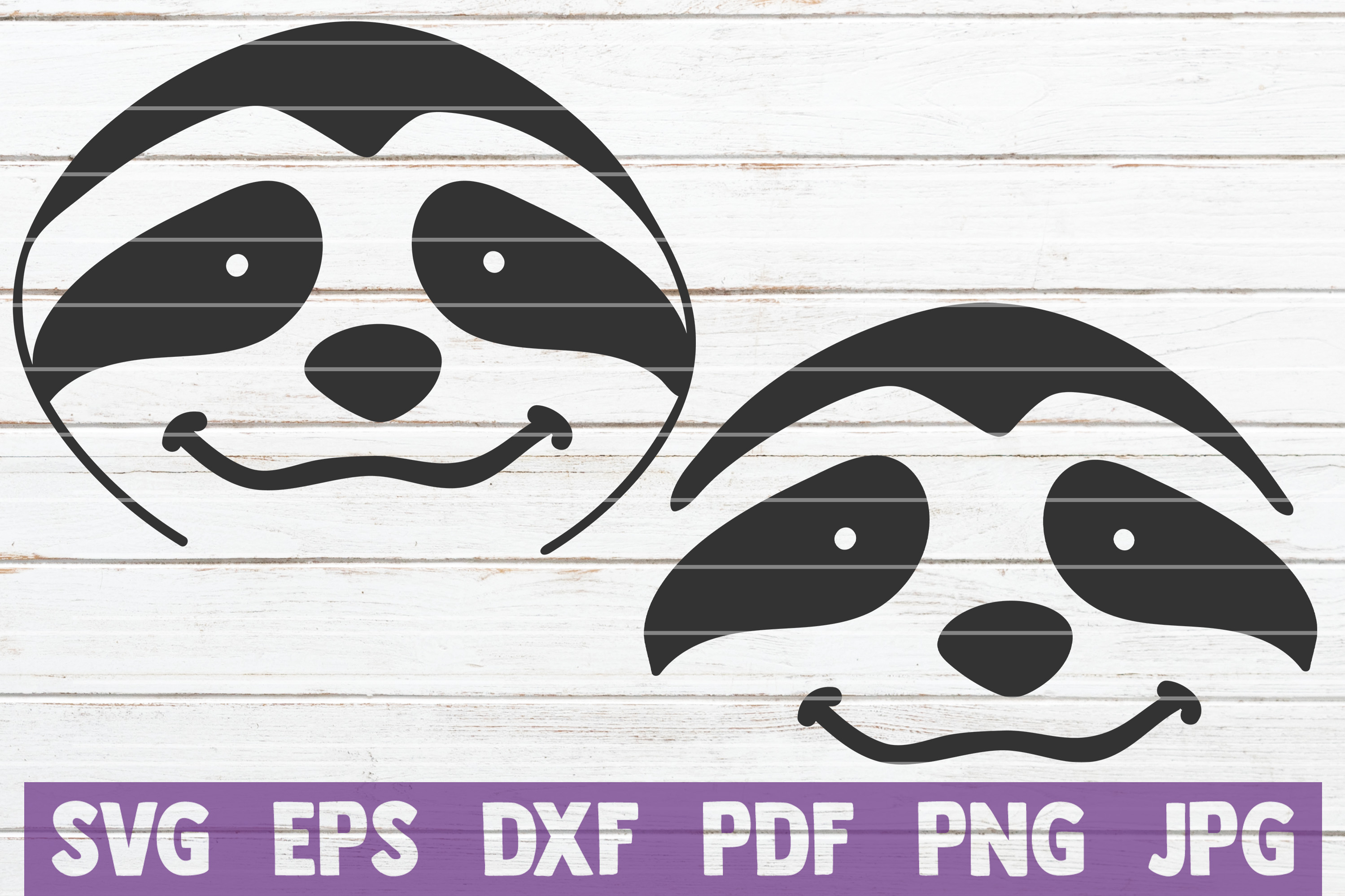 Download Free Sloth Face Bundle Cut Files Graphic By Mintymarshmallows for Cricut Explore, Silhouette and other cutting machines.