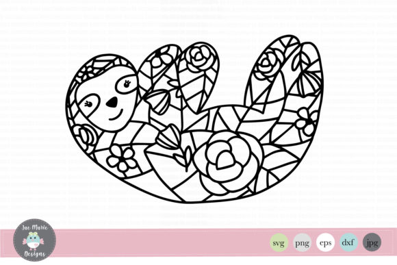 Download Free Sloth Mandala Graphic By Thejaemarie Creative Fabrica for Cricut Explore, Silhouette and other cutting machines.