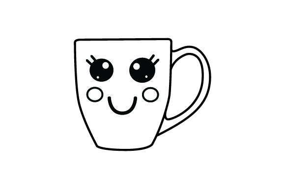 Download Free Smiling Coffeemug Svg Cut File By Creative Fabrica Crafts for Cricut Explore, Silhouette and other cutting machines.