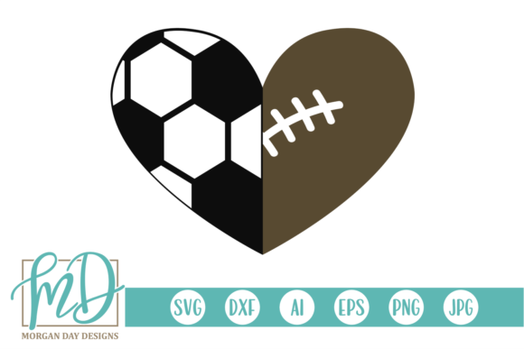 Download Free Soccer Football Heart Svg Graphic By Morgan Day Designs SVG Cut Files