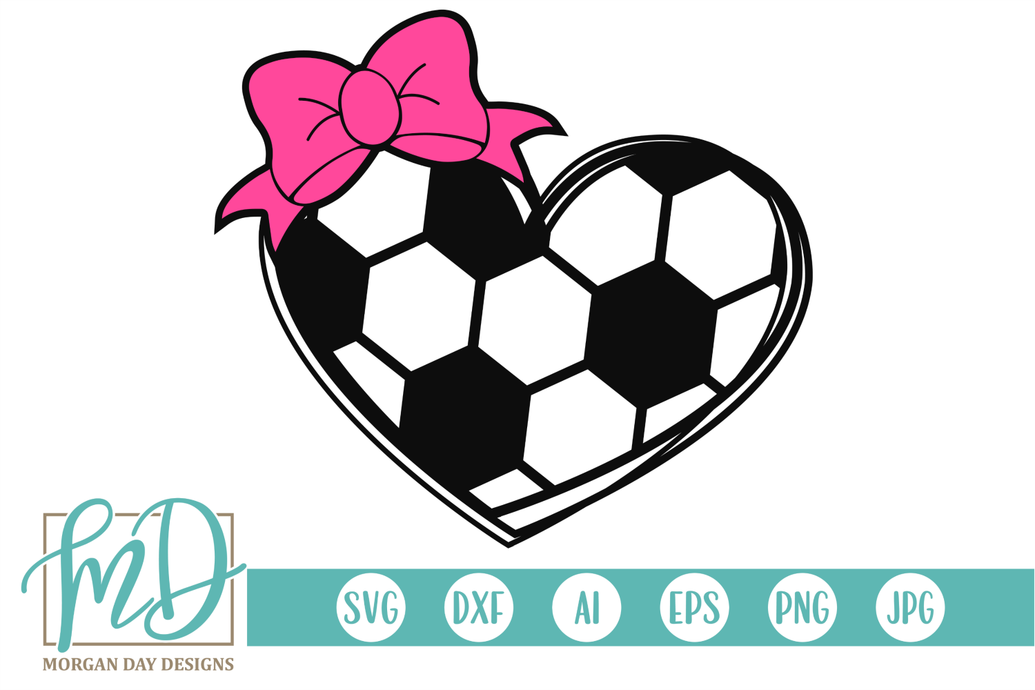 Download Free Soccer Heart Graphic By Morgan Day Designs Creative Fabrica for Cricut Explore, Silhouette and other cutting machines.
