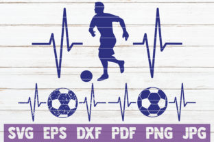 Download Free Soccer Heartbeat Cut Files Graphic By Mintymarshmallows for Cricut Explore, Silhouette and other cutting machines.