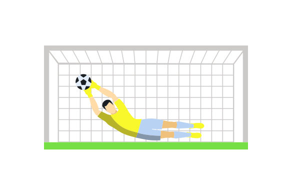 Download Free Soccer Goal With Keeper Svg Cut File By Creative Fabrica Crafts for Cricut Explore, Silhouette and other cutting machines.