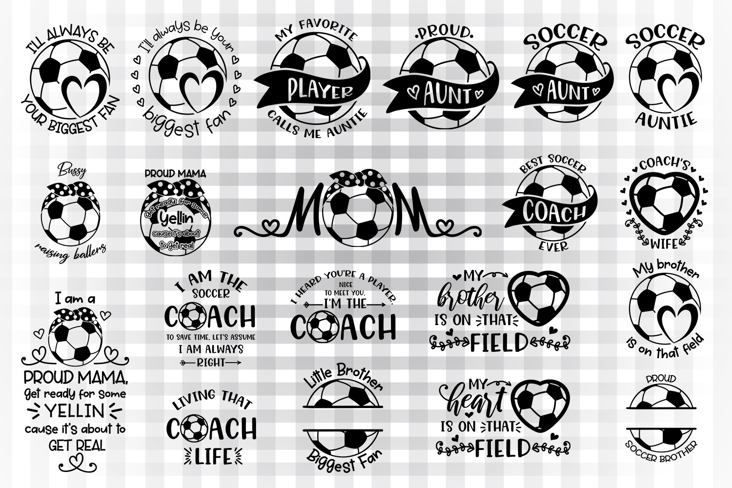 Download Free Soccer Sayings Bundle 2 Graphic By Illustrator Guru Creative for Cricut Explore, Silhouette and other cutting machines.