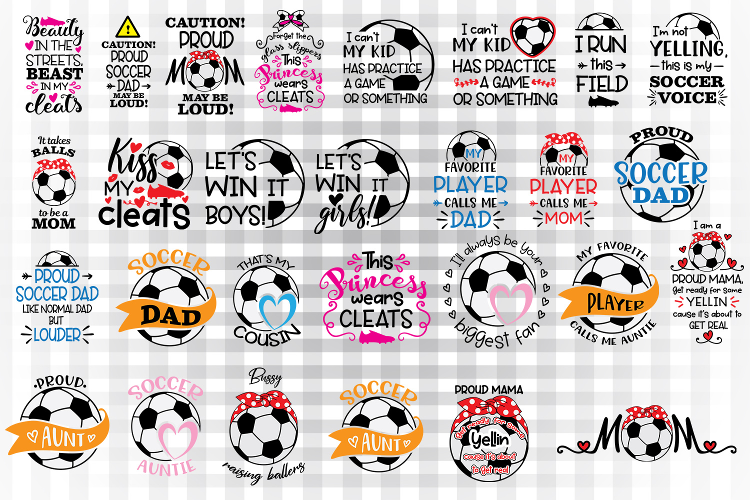 Download Free Soccer Sayings Bundle Graphic By Illustrator Guru Creative Fabrica for Cricut Explore, Silhouette and other cutting machines.