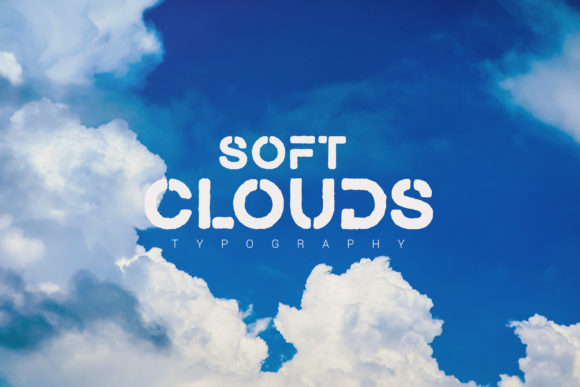Print on Demand: Soft Clouds Display Font By SmartDesigns