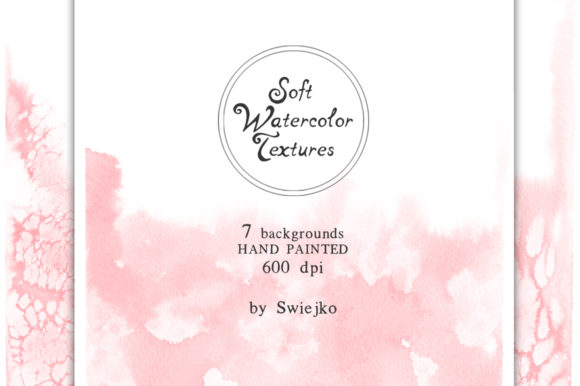 Soft Romantic Watercolor Background Graphic Illustrations By swiejko