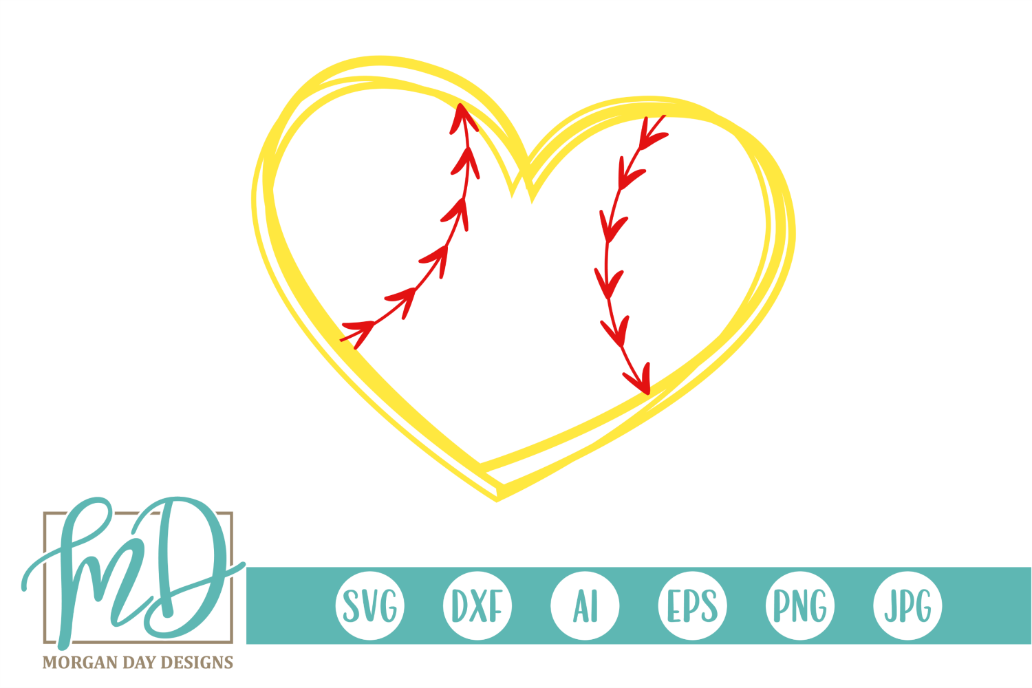 Download Free Softball Heart Graphic By Morgan Day Designs Creative Fabrica for Cricut Explore, Silhouette and other cutting machines.