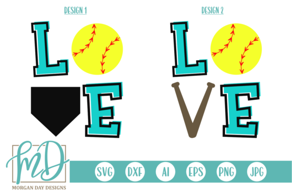Download Free Softball Love Graphic By Morgan Day Designs Creative Fabrica for Cricut Explore, Silhouette and other cutting machines.