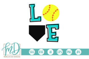 Download Free Softball Love Svg Graphic By Morgan Day Designs Creative Fabrica for Cricut Explore, Silhouette and other cutting machines.