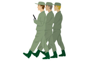 Soldiers Marching Craft Design By Creative Fabrica Crafts