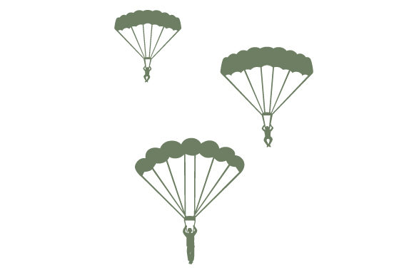Soldiers Parachuting Military Craft Cut File By Creative Fabrica Crafts - Image 1