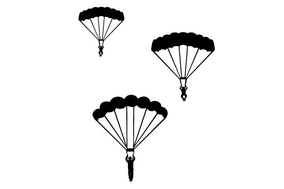 Soldiers Parachuting Military Craft Cut File By Creative Fabrica Crafts - Image 2
