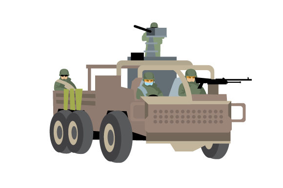 Soldiers in Truck Military Craft Cut File By Creative Fabrica Crafts - Image 1