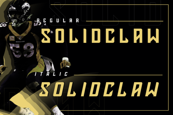 Print on Demand: Solidclaw Display Font By ovoz.graphics - Image 2