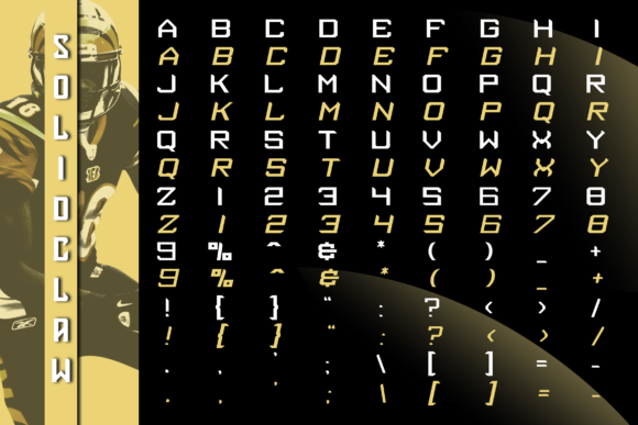 Print on Demand: Solidclaw Display Font By ovoz.graphics - Image 3
