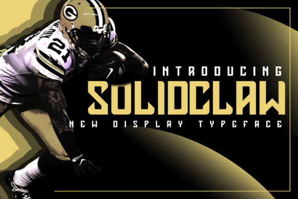 Print on Demand: Solidclaw Display Fuente Por ovoz.graphics