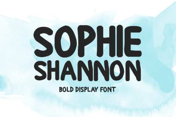 Print on Demand: Sophie Shannon Display Font By Nuovo Tocco