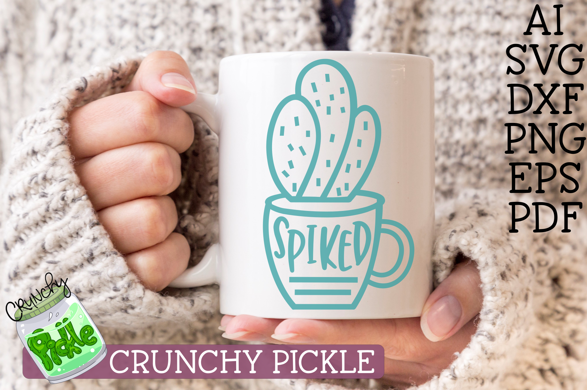 Download Free Spiked Cactus Pun Svg File Graphic By Crunchy Pickle Creative for Cricut Explore, Silhouette and other cutting machines.