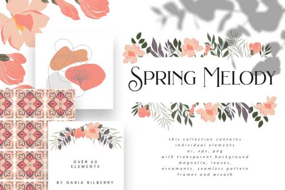 Spring Melody Graphic Illustrations By BilberryCreate