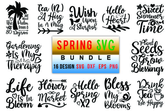 Spring Bundle Graphic Crafts By Red_box - Image 1