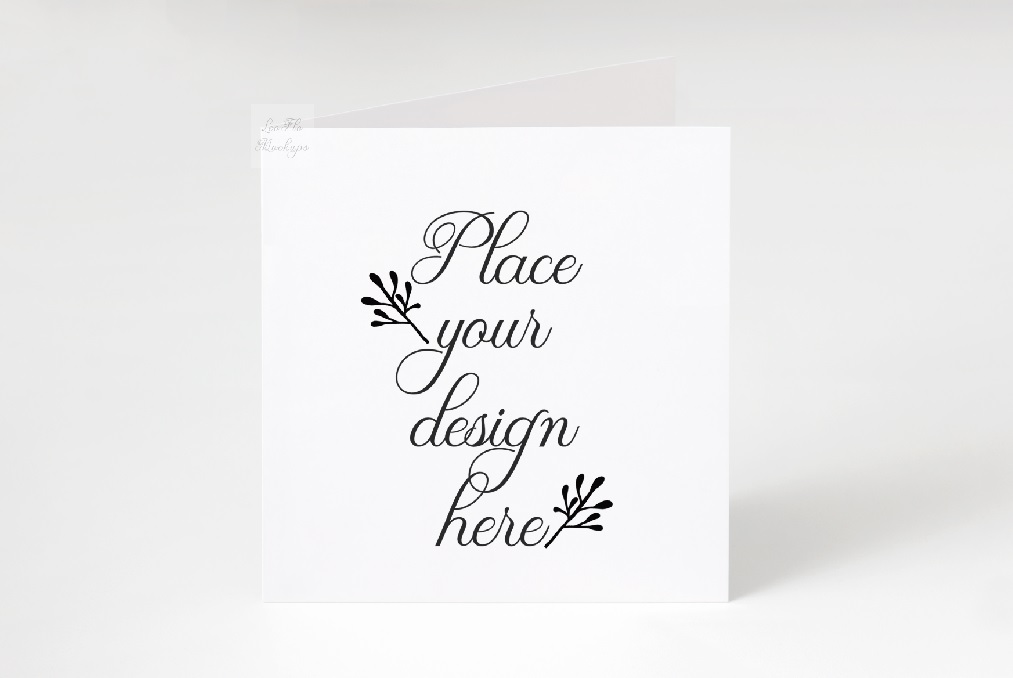 Download Free Square Greetting Card Mockup Graphic By Leo Flo Mockups for Cricut Explore, Silhouette and other cutting machines.