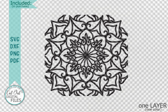 Square Mandala Sign Tile Style Cut File Graphic Crafts By Cornelia - Image 2