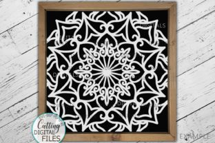 Download Free Square Mandala Sign Tile Style Cut File Graphic By Cornelia for Cricut Explore, Silhouette and other cutting machines.