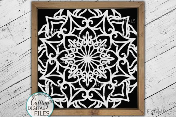 Square Mandala Sign Tile Style Cut File Graphic Crafts By Cornelia - Image 1